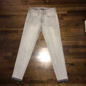 AE Jegging Ankle Jeans Light Gray